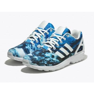 adidas zx flux femme bleu