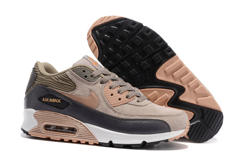nike air max 90 premium gris and beige